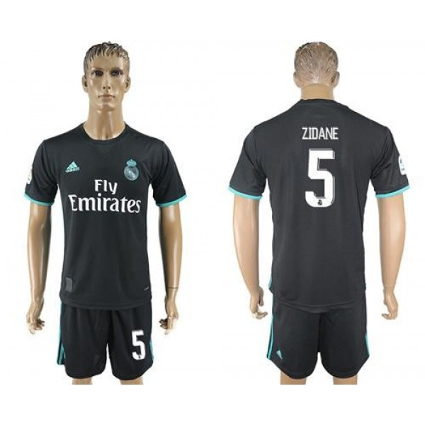 Real Madrid #5 Zidane Away Soccer Club Jersey