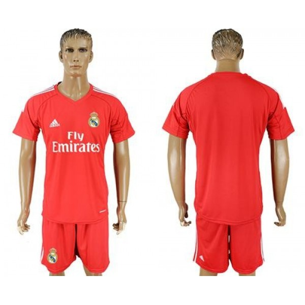 Real Madrid Blank Red Goalkeeper Soccer Club Jersey