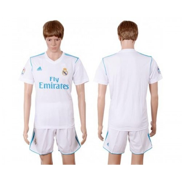 Real Madrid Blank White Home Soccer Club Jersey