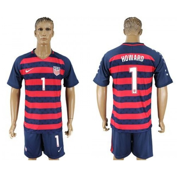 USA #1 Howard Away Soccer Country Jersey