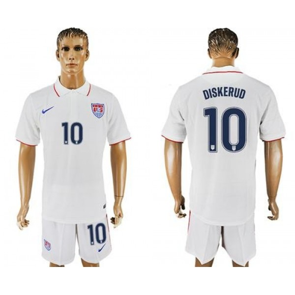 USA #10 Diskerud Home Soccer Country Jersey