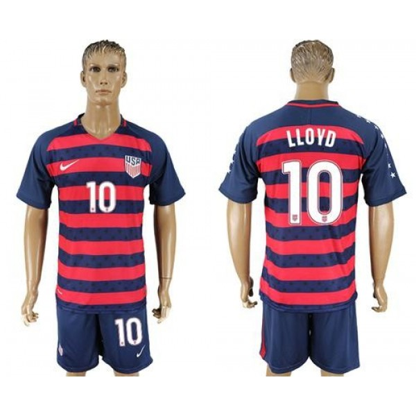 USA #10 Lloyd Away Soccer Country Jersey