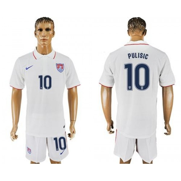 USA #10 Pulisic Home Soccer Country Jersey