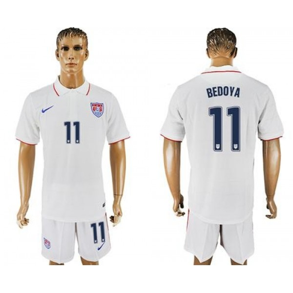 USA #11 Bedoya Home Soccer Country Jersey