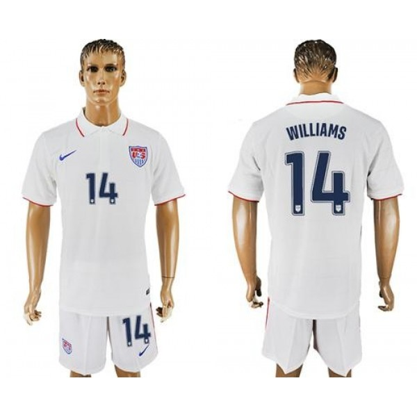USA #14 Williams Home Soccer Country Jersey