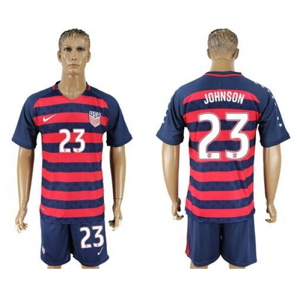 USA #23 Johnson Away Soccer Country Jersey