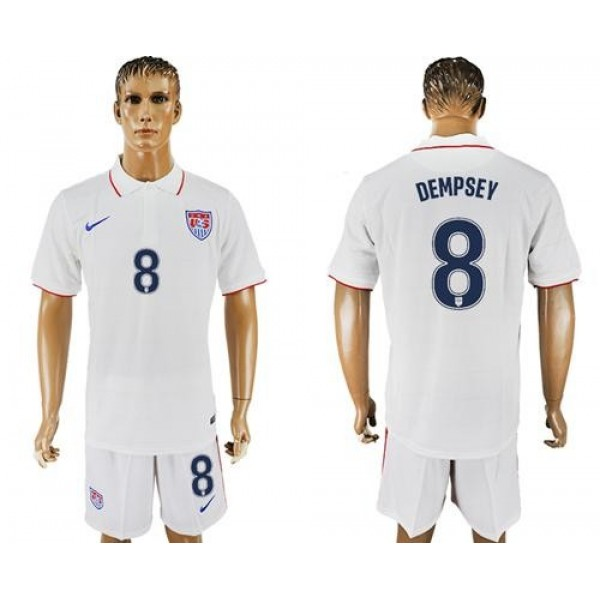 USA #8 Dempsey Home Soccer Country Jersey