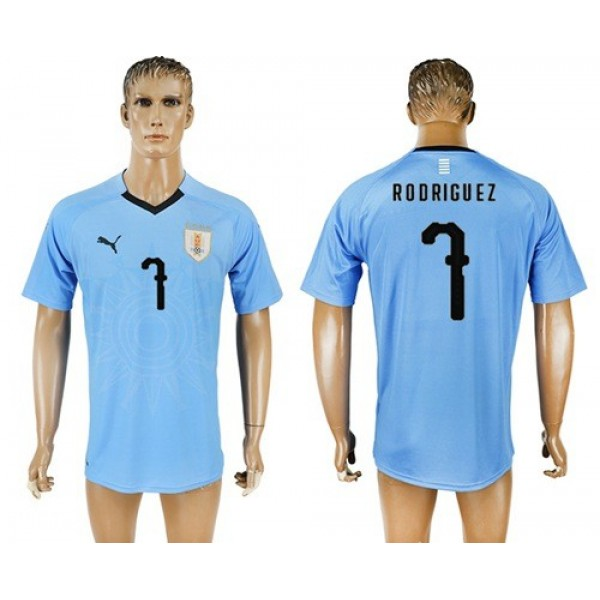 Uruguay #7 Rodriguez Home Soccer Country Jersey